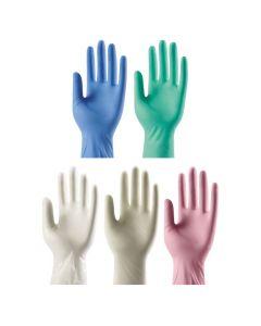 Disposable medical nitrile examination gloves